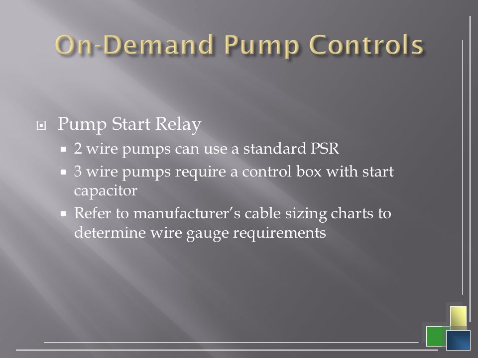 On-Demand Pump Controls