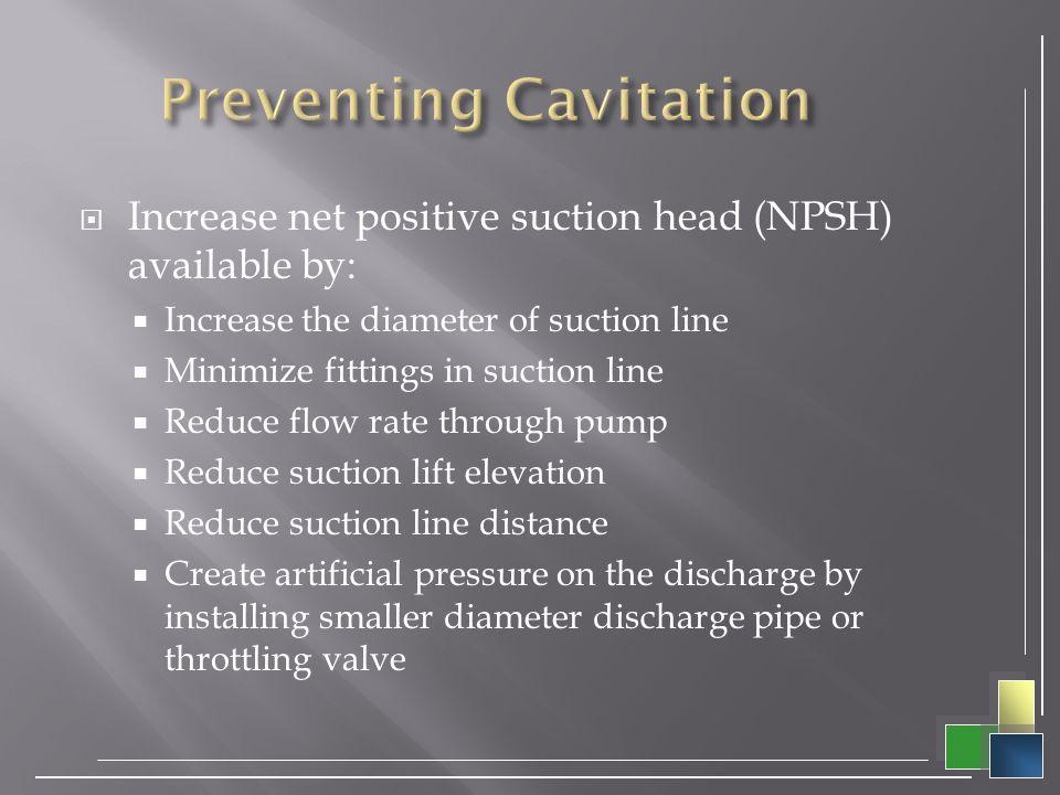 Preventing Cavitation
