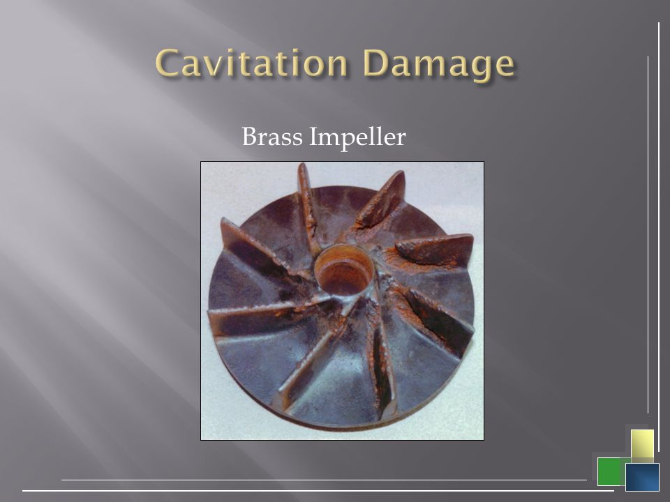Cavitation Damage Brass Impeller