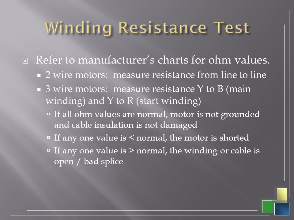 Winding Resistance Test