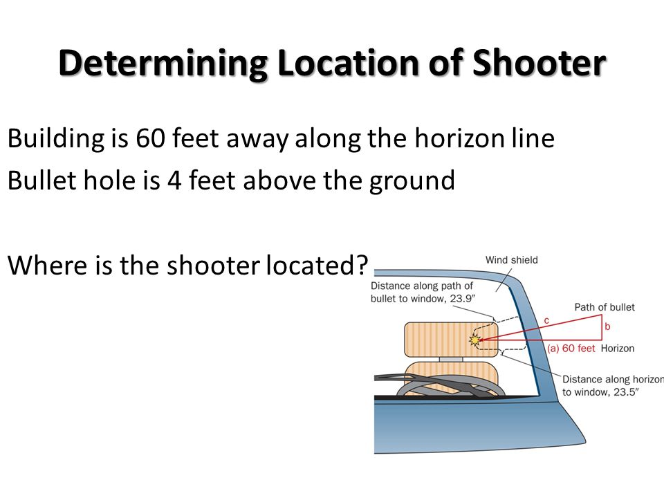 Determining Location of Shooter