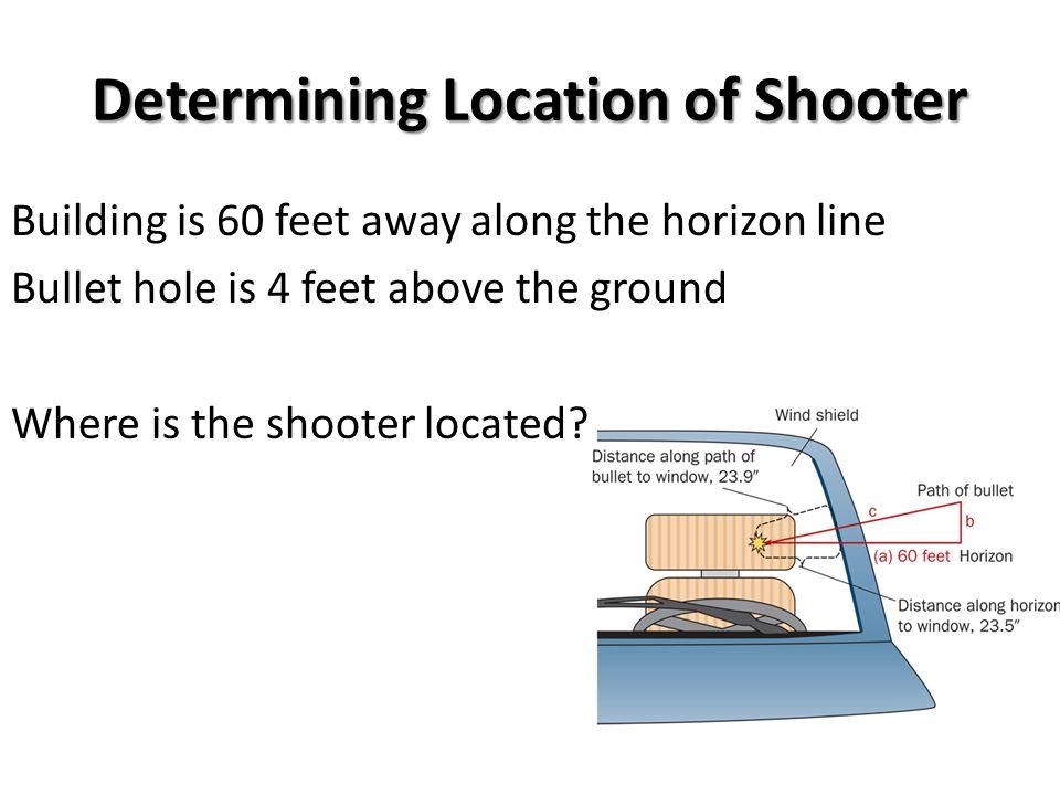 Determining Location of Shooter