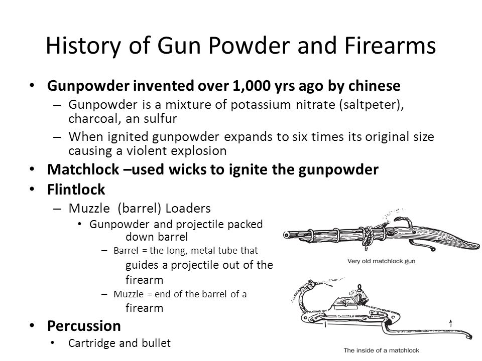 History of Gun Powder and Firearms