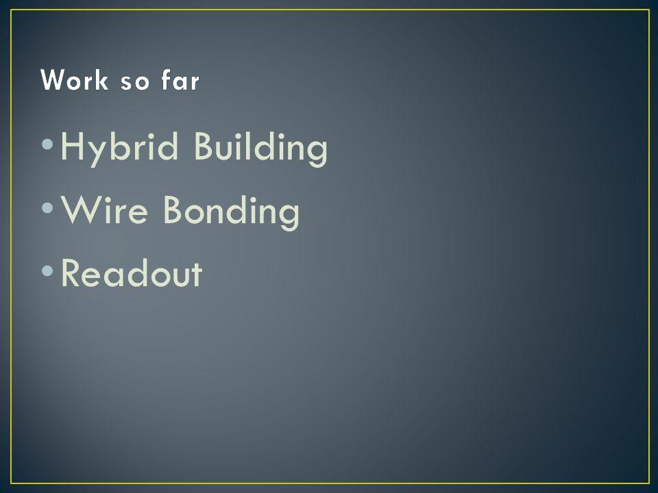 Work so far Hybrid Building Wire Bonding Readout