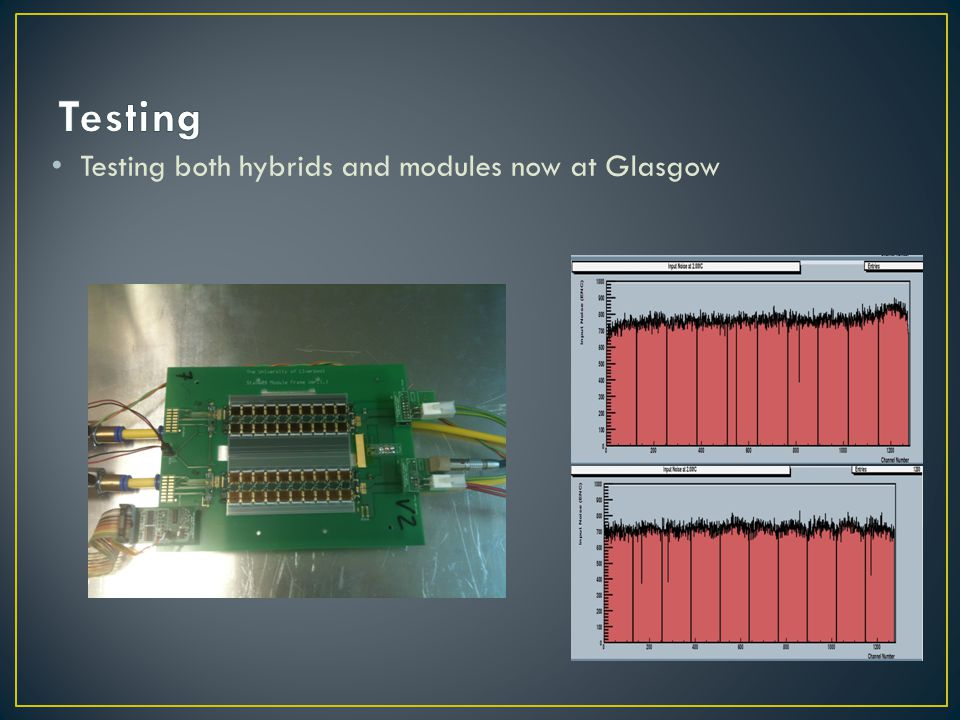 Testing Testing both hybrids and modules now at Glasgow