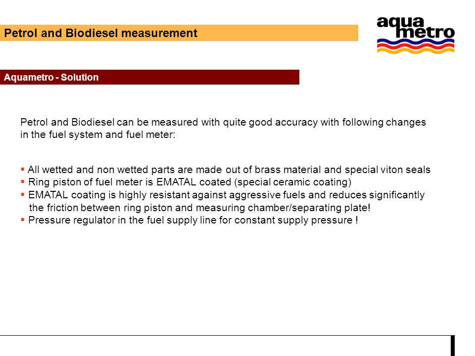 Petrol and Biodiesel measurement