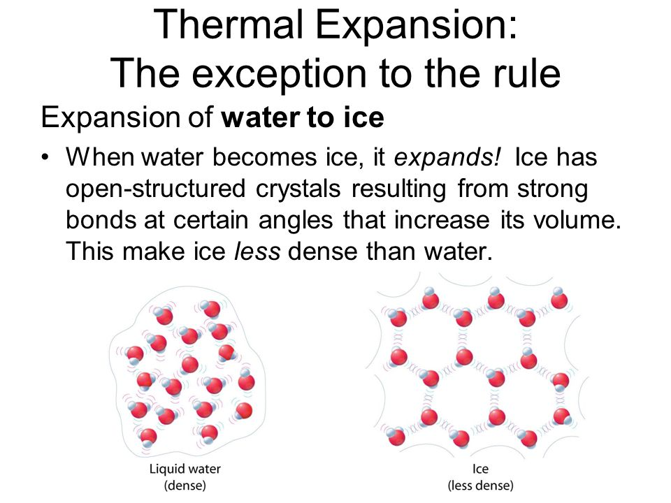 Thermal Expansion: The exception to the rule