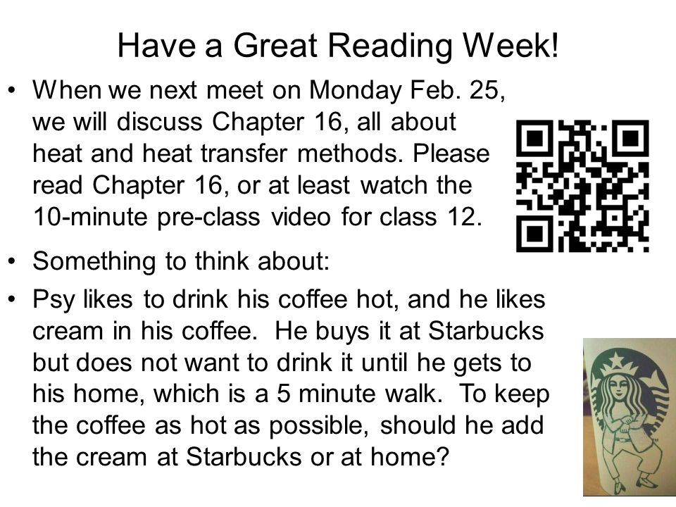 Have a Great Reading Week!