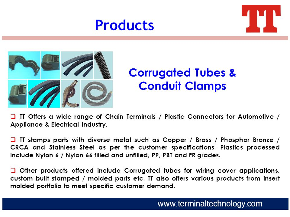 Corrugated Tubes & Conduit Clamps