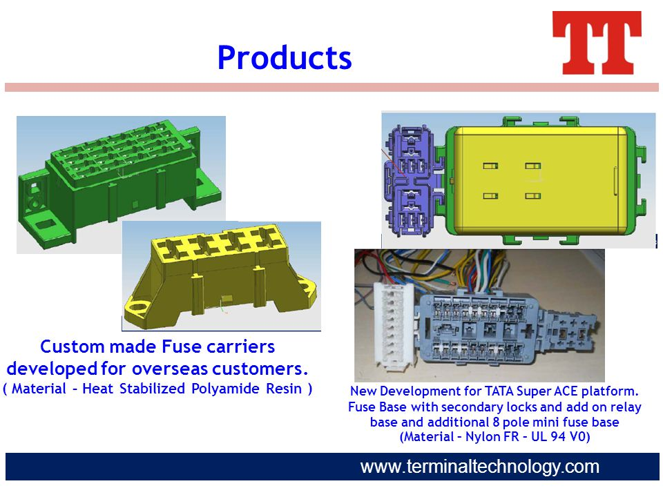 Products Custom made Fuse carriers developed for overseas customers.