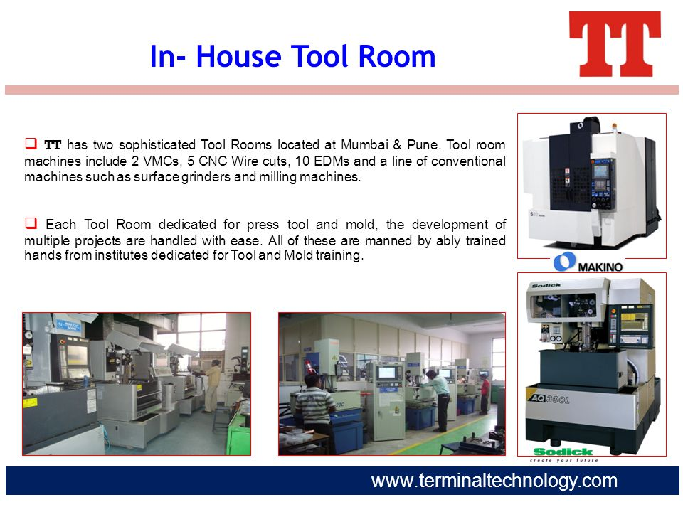 In- House Tool Room