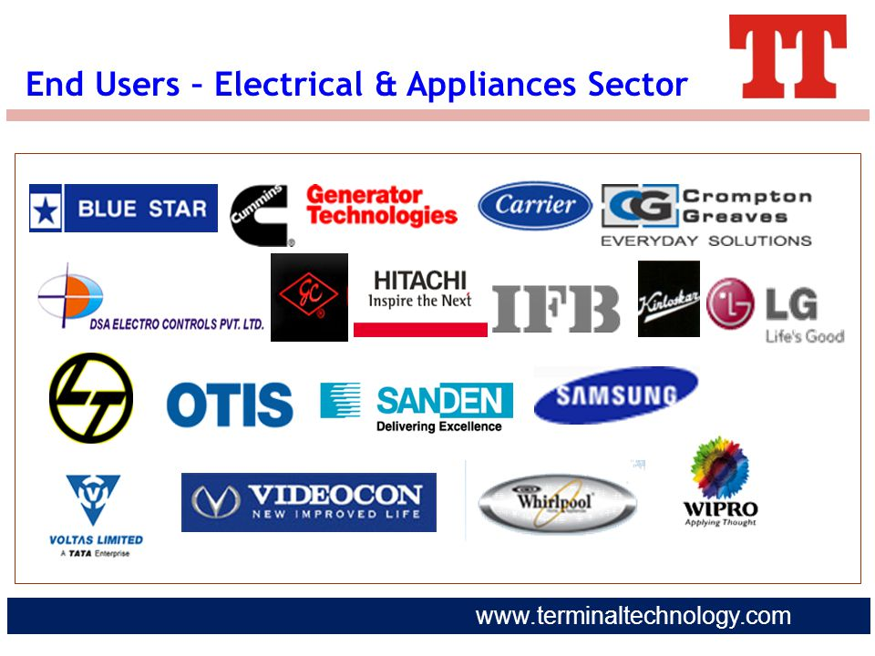 End Users – Electrical & Appliances Sector
