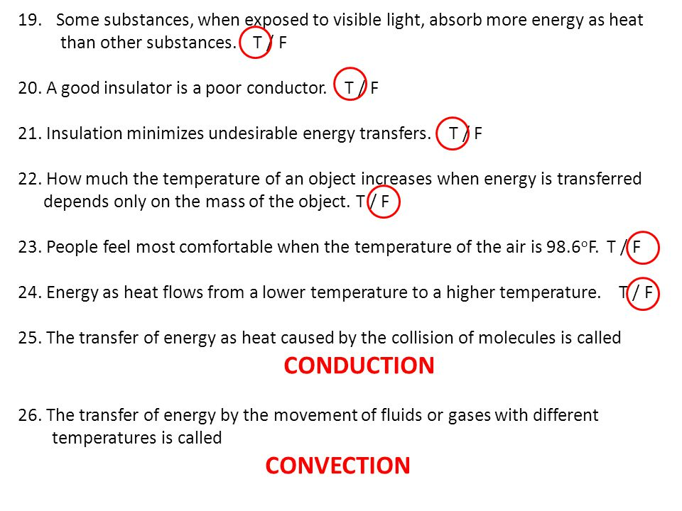 CONDUCTION CONVECTION