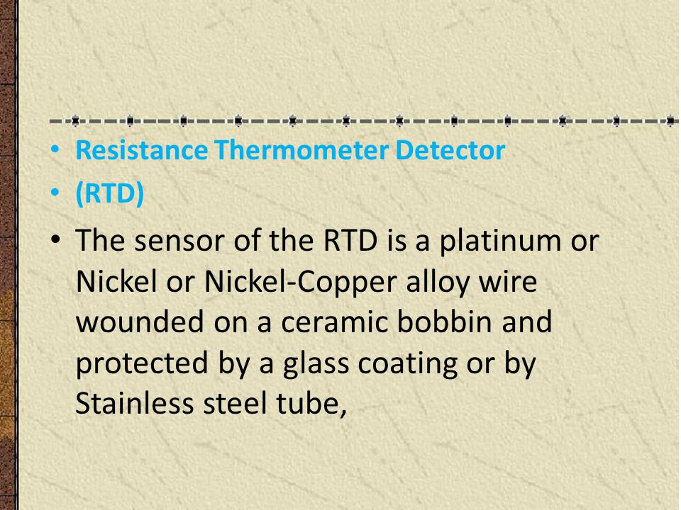 Resistance Thermometer Detector