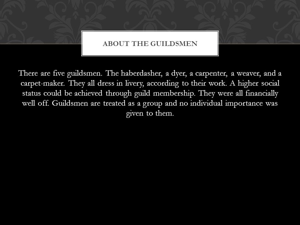About the guildsmen