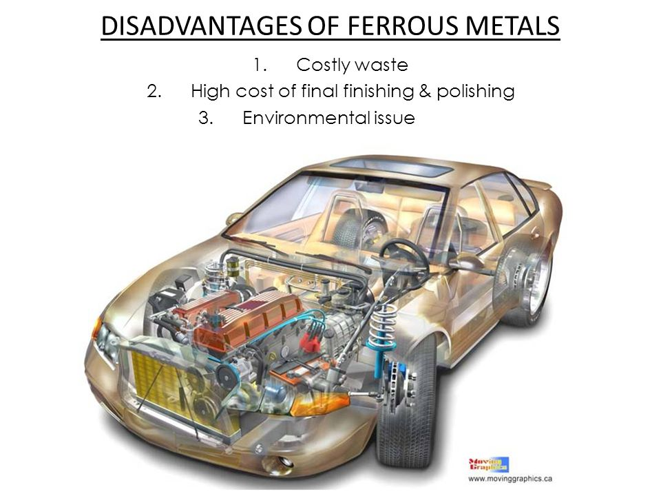 DISADVANTAGES OF FERROUS METALS