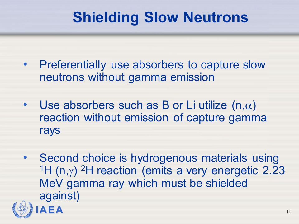 Shielding Slow Neutrons