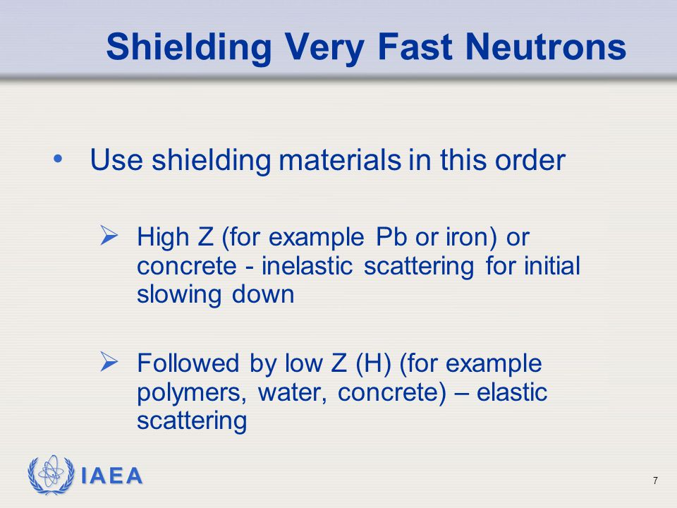 Shielding Very Fast Neutrons