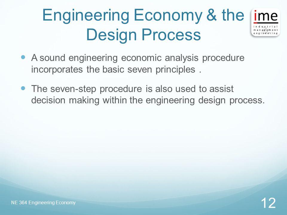 Engineering Economy & the Design Process