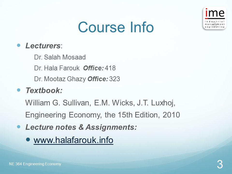 Course Info www.halafarouk.info Lecturers: Textbook: