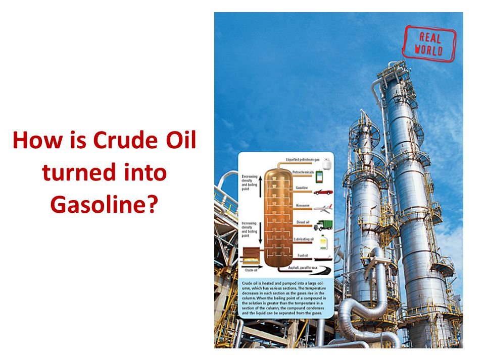 How is Crude Oil turned into Gasoline