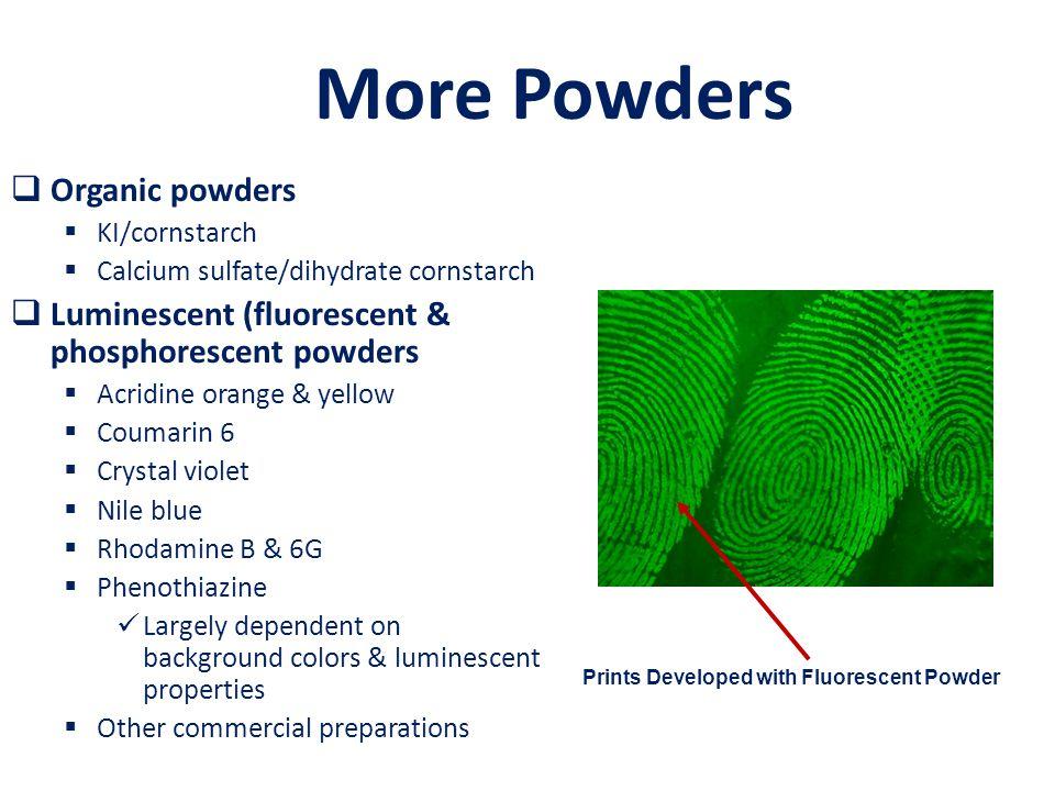 More Powders Organic powders