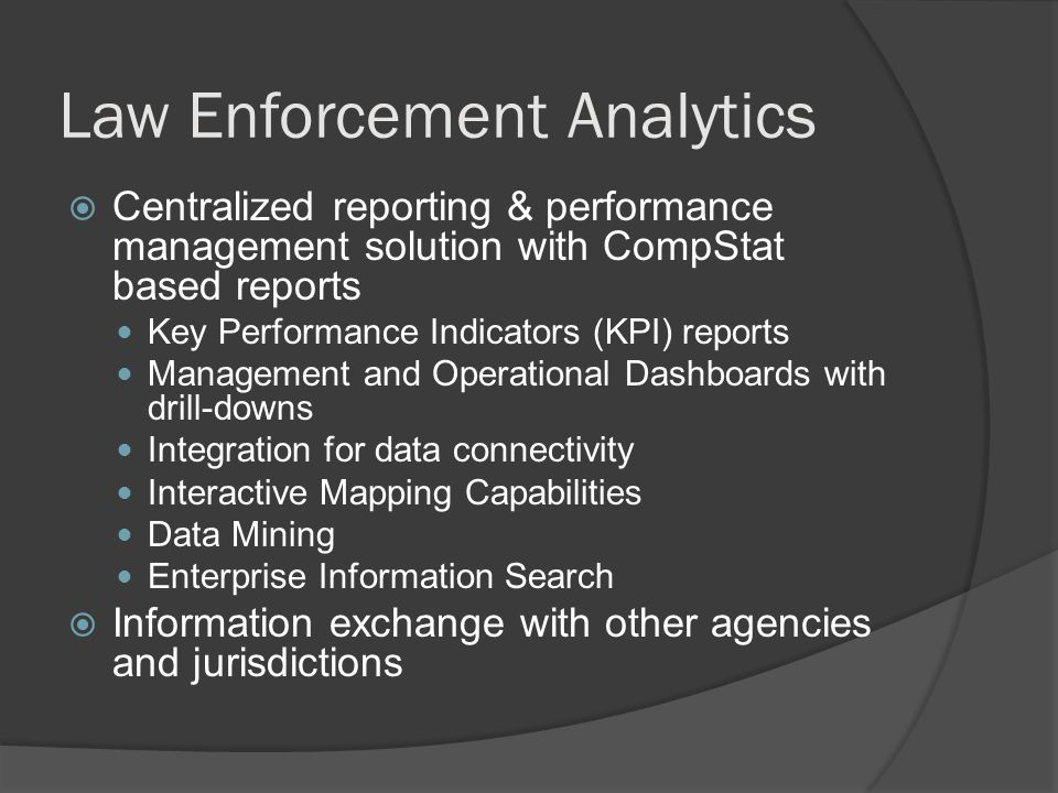 Law Enforcement Analytics
