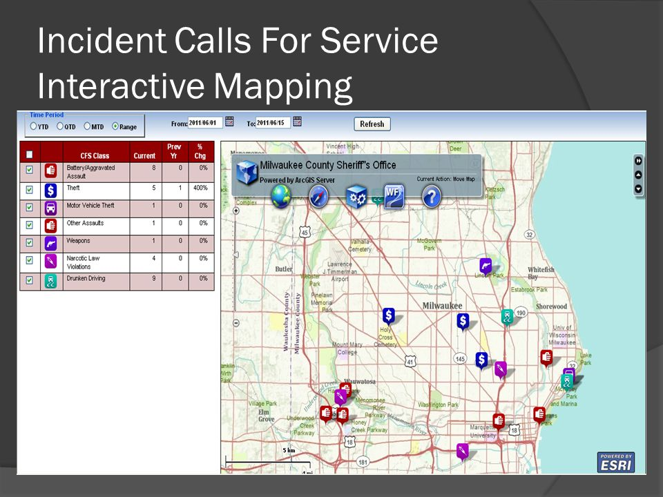Incident Calls For Service Interactive Mapping