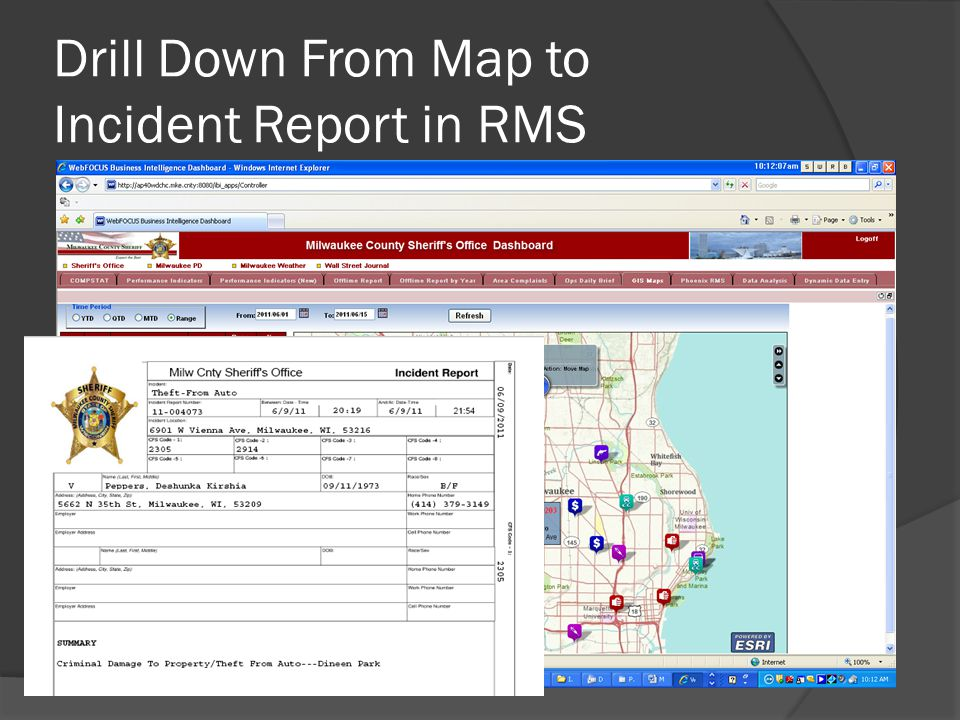 Drill Down From Map to Incident Report in RMS