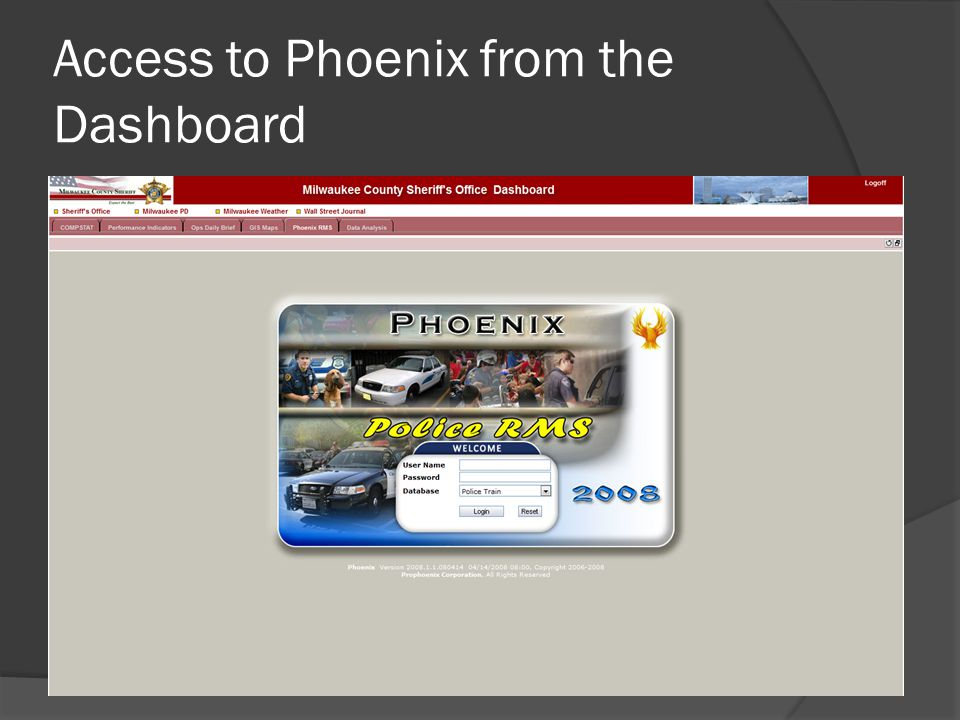 Access to Phoenix from the Dashboard