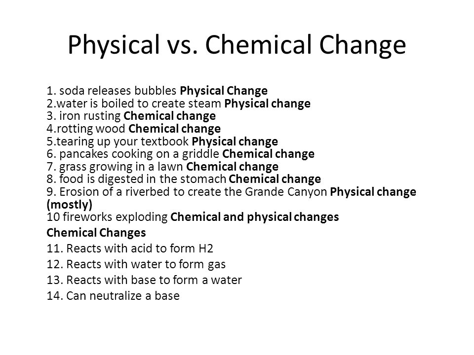 physical chemical changes essay The tools you need to write a quality essay or chemical changes are taking place in the chemical and physical properties of water water consists.