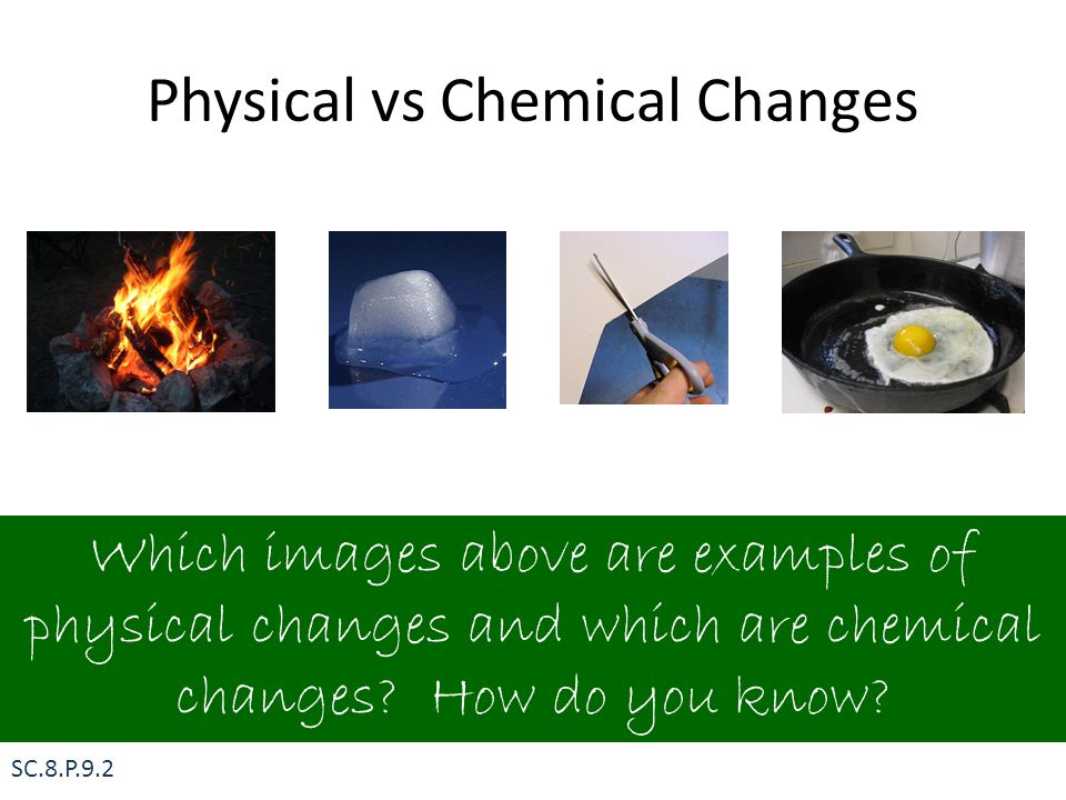 Physical vs Chemical Changes