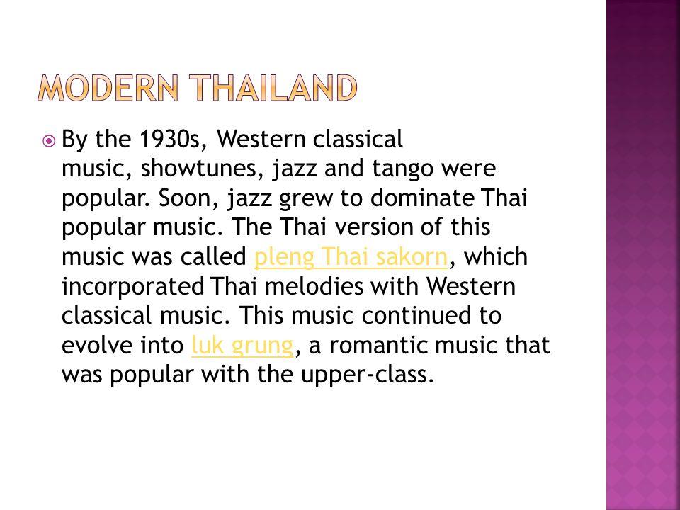Modern Thailand