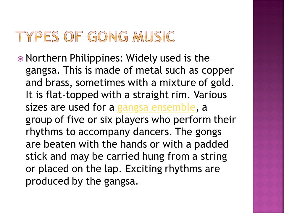 Types of Gong music