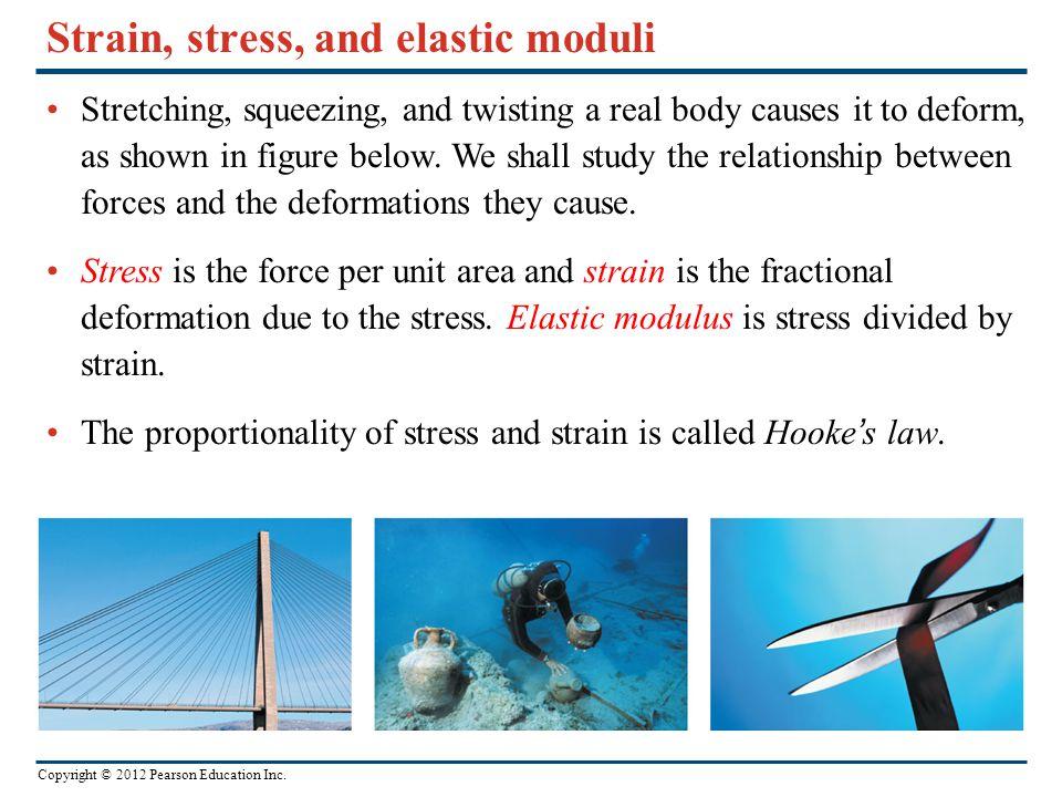 Strain, stress, and elastic moduli