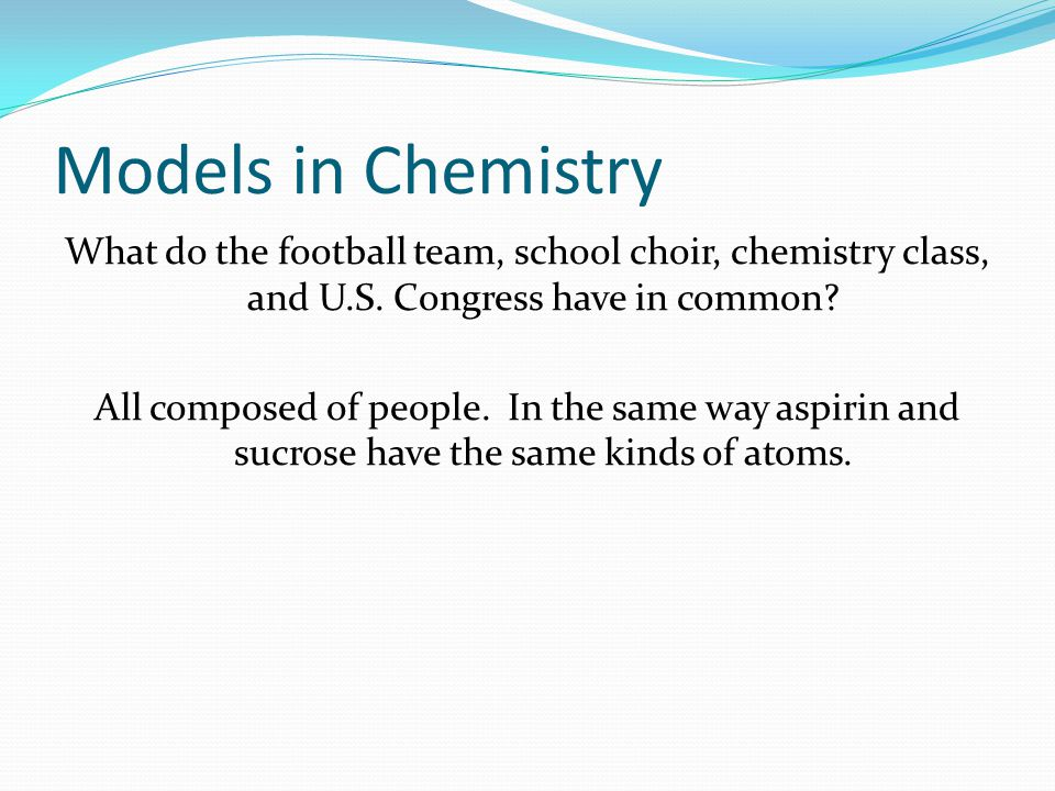 Models in Chemistry