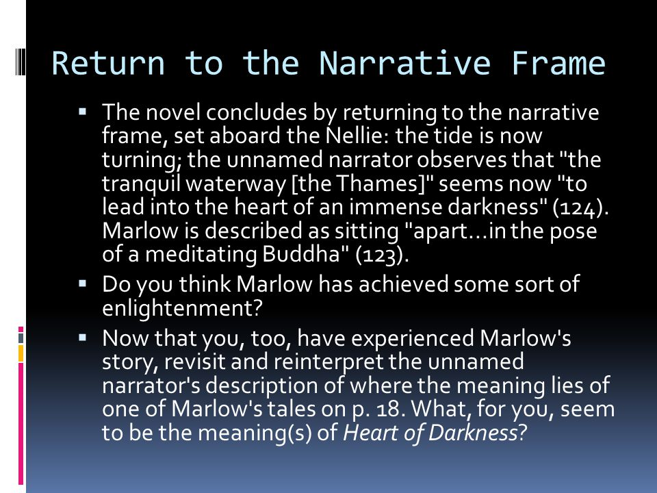 Return to the Narrative Frame