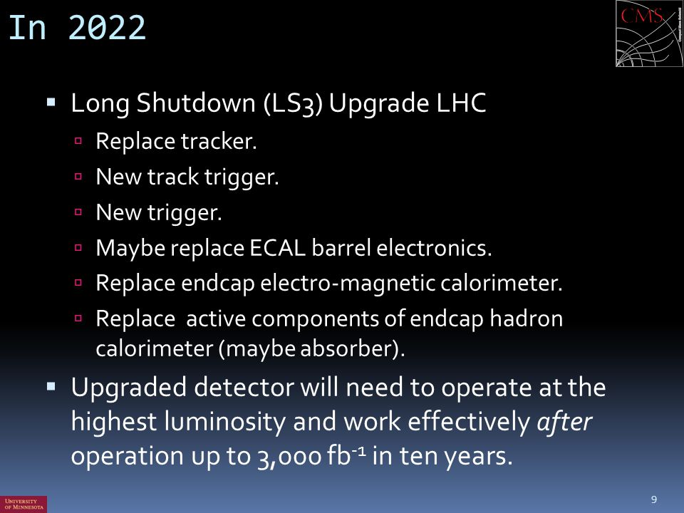 In 2022 Long Shutdown (LS3) Upgrade LHC