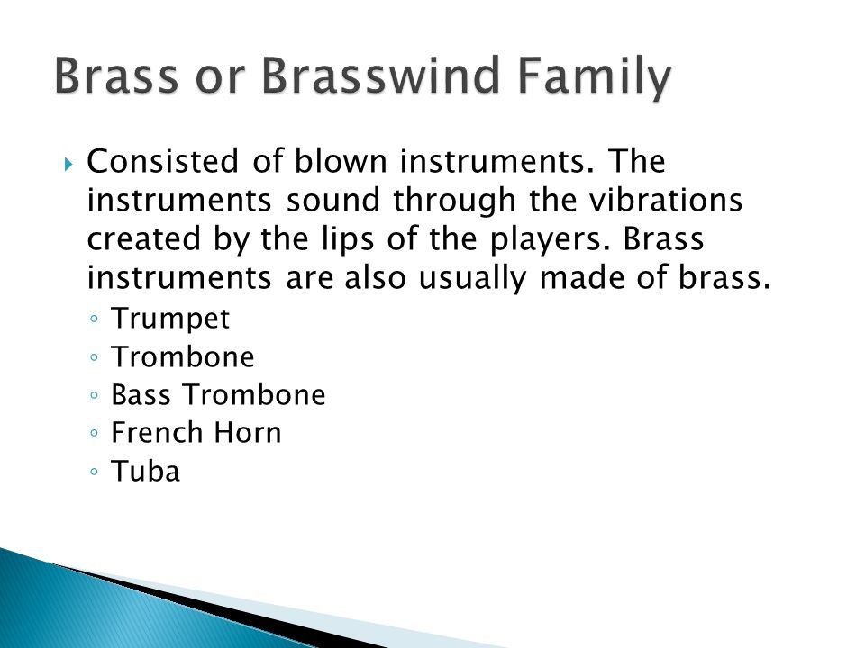 Brass or Brasswind Family