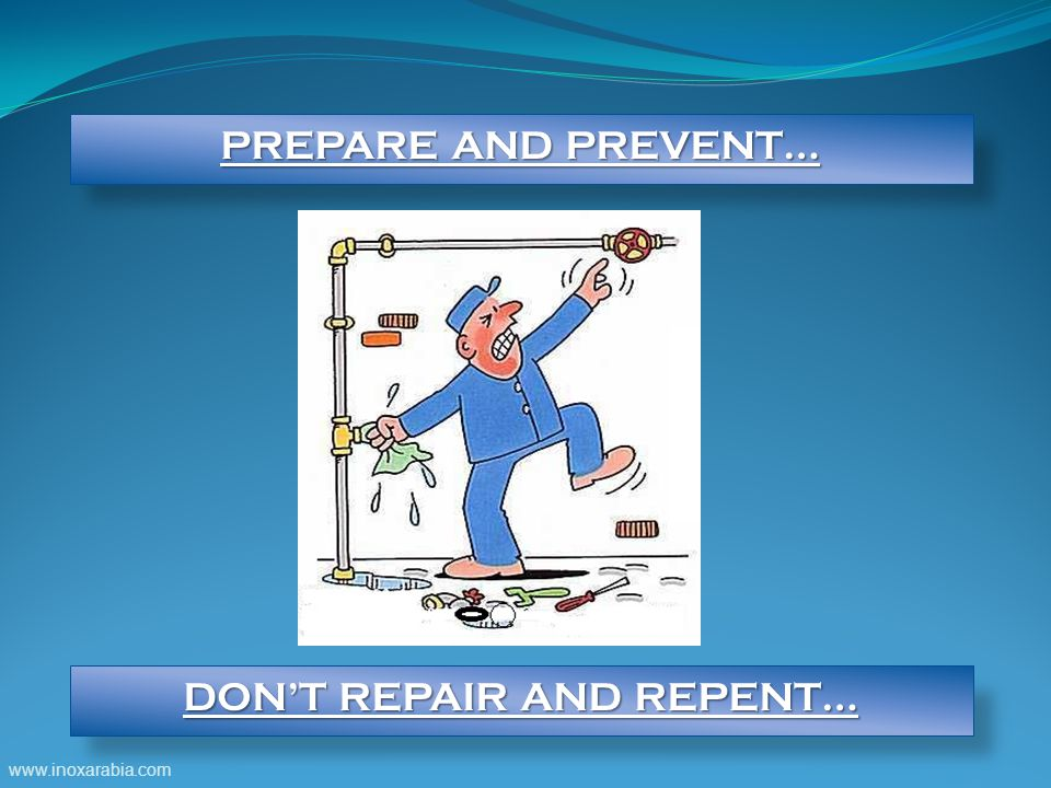DON'T REPAIR AND REPENT…