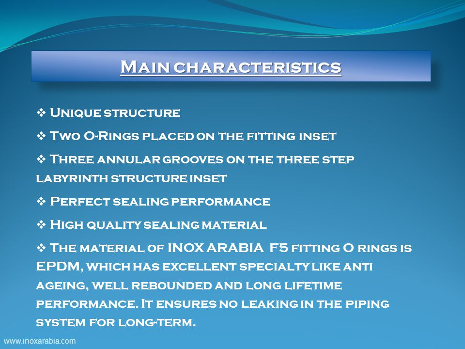 Main characteristics Unique structure