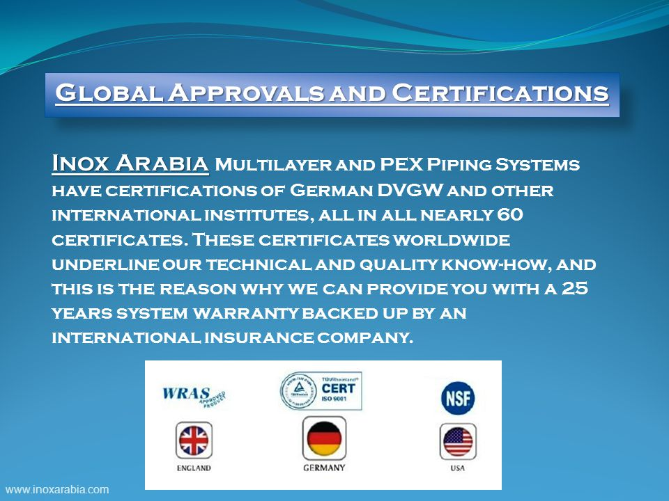 Global Approvals and Certifications
