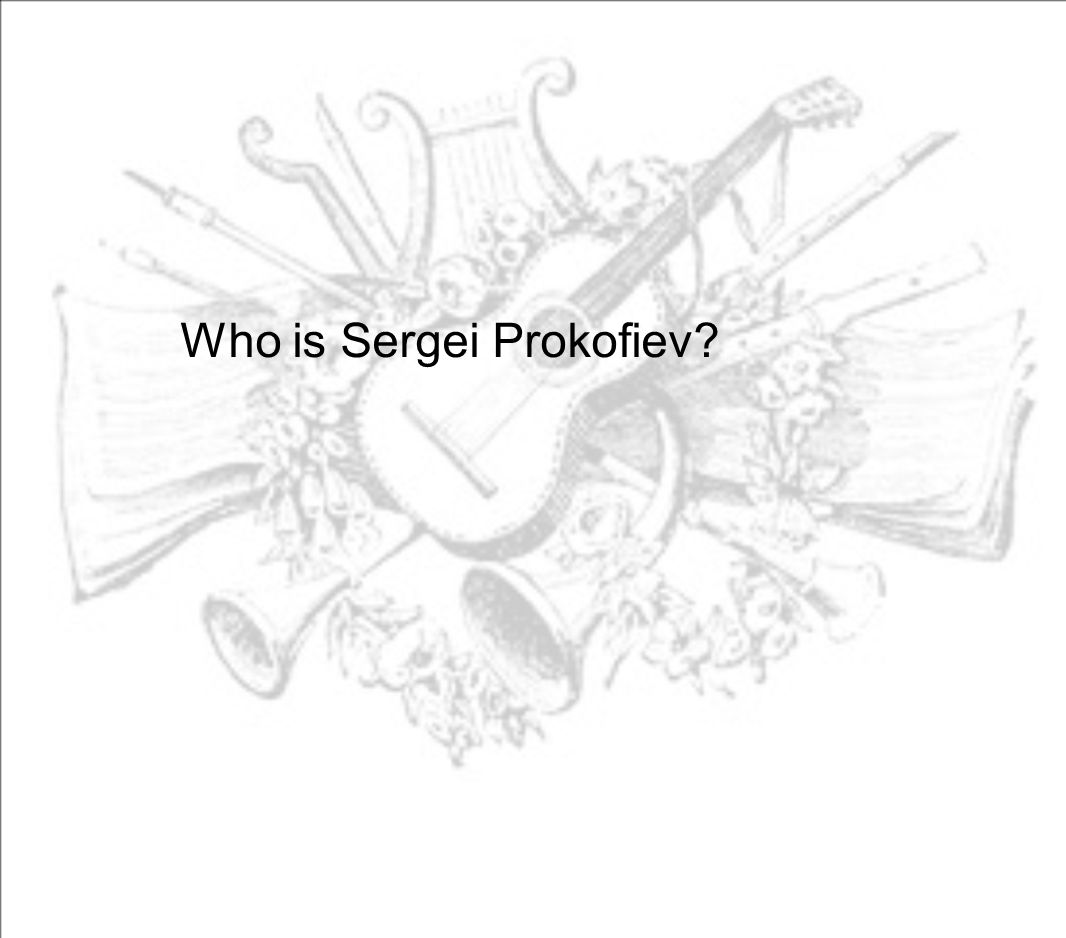 Who is Sergei Prokofiev