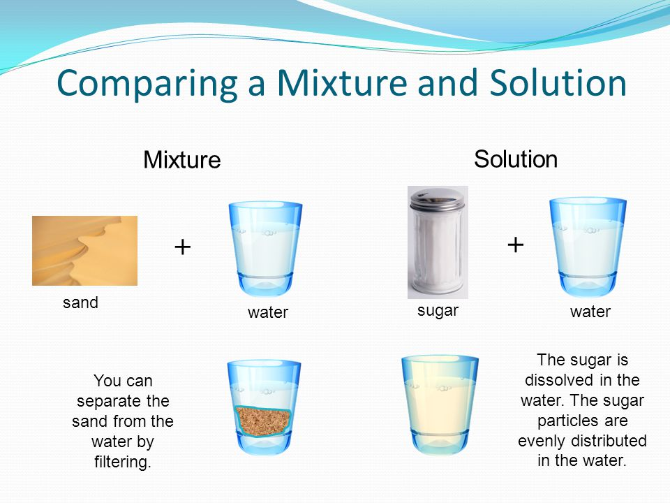 Comparing a Mixture and Solution