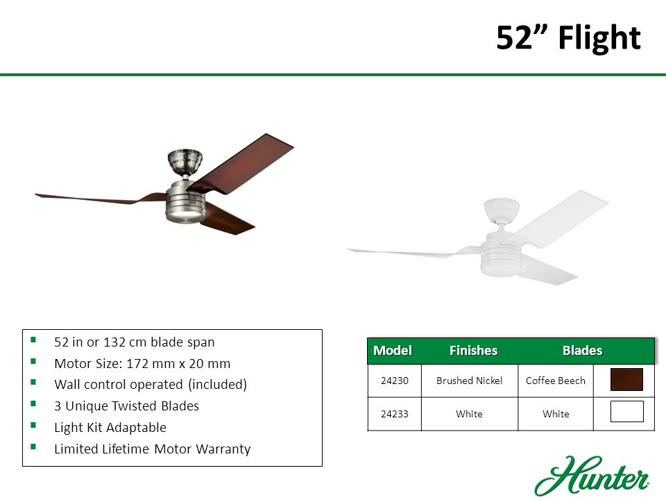 52 Flight 52 in or 132 cm blade span Motor Size: 172 mm x 20 mm