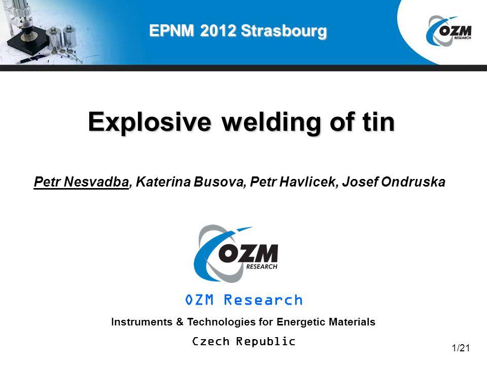 Explosive welding of tin