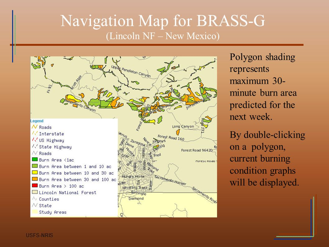 Navigation Map for BRASS-G (Lincoln NF – New Mexico)