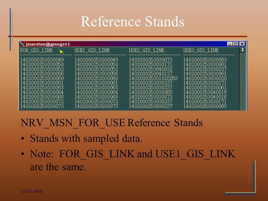 Reference Stands NRV_MSN_FOR_USE Reference Stands