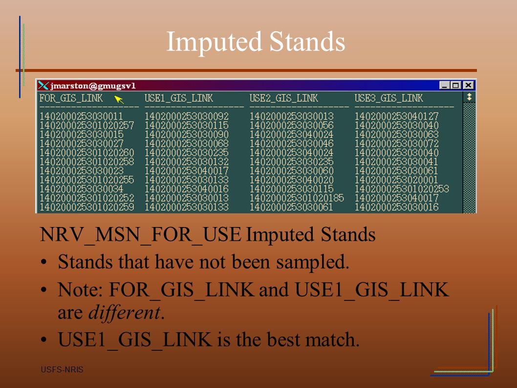 Imputed Stands NRV_MSN_FOR_USE Imputed Stands