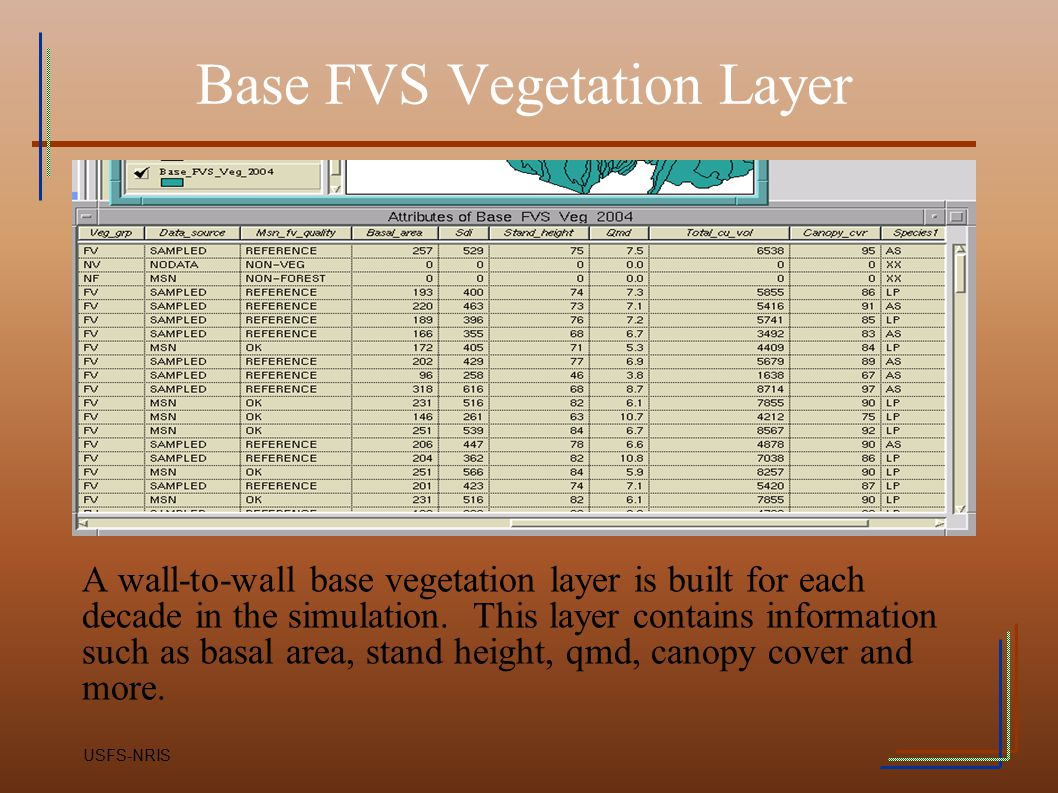Base FVS Vegetation Layer